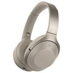 Casti on-ear cu microfon Bluetooth Hi-Res SONY MDR-1000XC, Wireless, NFC, Noise-canceling, bej