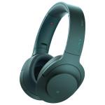 Casti on-ear cu microfon Bluetooth Hi-Res SONY MDR-100ABNL, Wireless, Noise-canceling, albastru