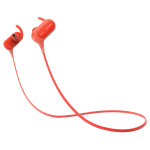 Casti sport in-ear cu microfon Bluetooth SONY MDR-XB50BSR, EXTRA BASS™, Wireless, NFC, rezistenta la stropire, rosu
