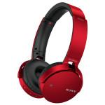 Casti on-ear cu microfon Bluetooth SONY MDR-XB650BTR, rosu
