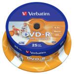 DVD-R VERBATIM 43538, 16x, 4.7GB, 25buc - Cake