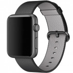 Bratara pentru APPLE Watch Seria 1, 42 mm, nylon, black