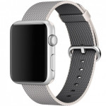 Bratara pentru APPLE Watch Seria 1, 42 mm, nylon, white pearl