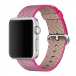 Bratara pentru APPLE Watch Seria 1, 38 mm, nylon, roz