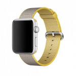 Bratara pentru APPLE Watch Seria 1, 42 mm, nylon, yellow-gray