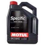 Ulei motor MOTUL Specific, VW 505.01/502.00, 5W40, 5l