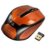Mouse Wireless HAMA Milano, USB, 1600dpi, portocaliu