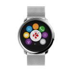 Smartwatch MYKRONOZ ZeRound Premium, curea metalica, argintiu