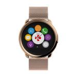 Smartwatch MYKRONOZ ZeRound Premium, curea metalica, auriu