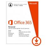 Licenta electronica ESD Microsoft Office 365 Personal, 32-bit/x64, 1 PC/MAC + 1 tableta/iPad, 1 an