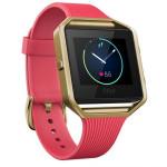 Smartwatch FITBIT Blaze Gold, bratara Small, Pink
