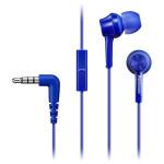 Casti in-ear cu microfon PANASONIC RP-TCM105E-A, albastru