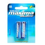 Baterii alcaline AA SUNLIGHT Maxima, 2 bucati