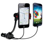 Suport auto universal cu incarcator Dual USB Power Mount, iSound 5471, Black