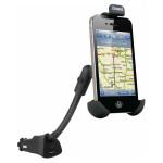 Suport auto cu incarcare bricheta pentru iPhone 5 ISOUND 5202, Black