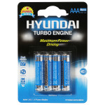 Baterii alcaline HYUNDAY Turbo LR03, AAA, 4 bucati