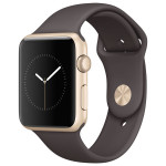 APPLE Watch Series 1 Sport 42mm Gold Aluminum Case, Cocoa Sport Band