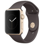 APPLE Watch Series 2 Sport 42mm Gold Aluminum Case, Cocoa Sport Band