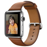 APPLE Watch Series 2 42mm Stainless Steel Case, Saddle Brown Classic Buckle