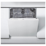 Masina de spalat vase incorporabila WHIRLPOOL WIE 2B19, 13 seturi, 6 programe, 60 cm, A+