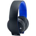 Casti gaming SONY Gold Wireless Stereo PS4, negru-albastru