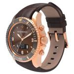 Smartwatch MYKRONOZ ZeClock Premium, Gold, curea maro