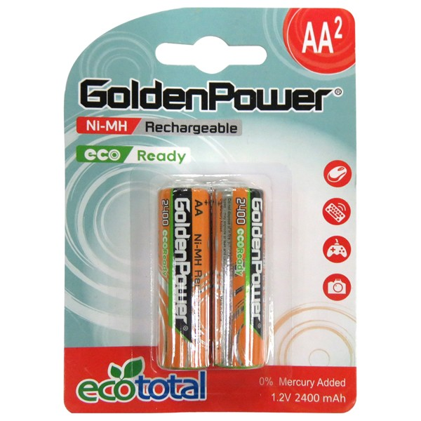 Acumulatori reincarcabili GOLDEN POWER MR24AAEZJC2E, Ni-Mh, R6(AA), 2400mAh, 2 bucati