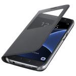 Husa S View Cover pentru Samsung Galaxy S7, SAMSUNG EF-CG930PBEGWW, Black