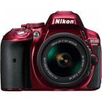 Camera foto DSLR NIKON D5300 + AF-P 18-55mm VR, Red