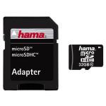 Card de memorie + adaptor HAMA microSD HC 32GB clasa 10