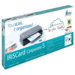 Scanner IRIS IRISCard Corporate 5, A6, USB, gri-negru