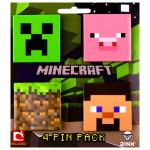 Minecraft - Pachet de 4 insigne