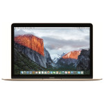 """Laptop APPLE MacBook 12"""" Retina Display mlhe2ze/a, Intel® Core™ m3 pana la 2.2GHz, 8GB, 256GB, Intel HD Graphics 515, OS X El Capitan, Gold - Tastatura layout INT"""