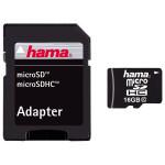 Card de memorie microSDHC 16GB Clasa 10 + adaptor, HAMA 108088