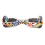 Scooter electric FREEWHEEL F1, graffiti albastru