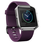 Smartwatch FITBIT Blaze Silver, bratara Large, Plum