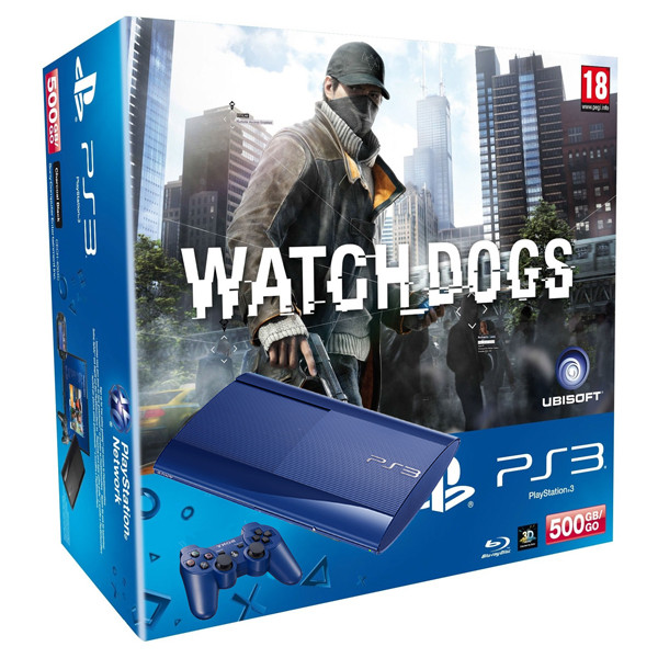 Consola SONY PS3 Slim 500GB + Joc Watch Dogs