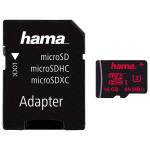Card de memorie microSDHC 16GB Clasa 3 UHS-I 80MB/S + adaptor, HAMA 123977
