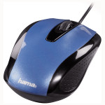 Mouse optic HAMA AM-5400, cu fir, 800dpi, albastru