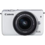 Camera foto mirrorless CANON EOSM10, 18Mp, 3 inch, obiectiv 15-45 mm,  f/3.5-6.3 IS STM, alb