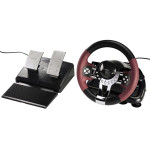 Volan V5 pentru curse HAMA 51845 pentru PS3 / PC, 12 butoane, USB, negru / rosu