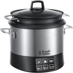 Multicooker RUSSELL HOBBS 23130-56, 4.5l, 8 programe, 1000W, negru-inox
