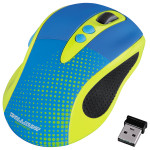 Mouse Wireless HAMA Knallbunt 2.0, 2000dpi, galben