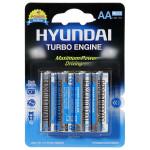 Baterie alcalina HYUNDAY Turbo LR6, AA, 4 bucati