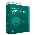 KASPERSKY Anti-Virus 2016, 1 an, 2 PC, Box