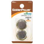 Baterii litiu GOLDEN POWER CR-2016, 2 bucati