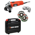 Polizor unghiular BLACK & DECKER KG115KAX, 750W, 115mm, 11000rpm, geanta transport