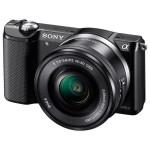 Camera foto digitala compacta SONY Alpha A5000 cu obiectiv interschimbabil 16-50mm, 20.1Mp, 3 inch, negru