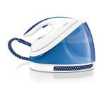 Statie de calcat PHILIPS PerfectCare Viva GC7015/20, SteamGlide, 170g/min, 2400W, alb - albastru