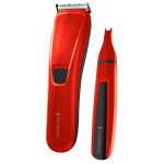 Set masina de tuns + trimmer nas/urechi REMINGTON Precision Cut HC5302, acumulator, rosu